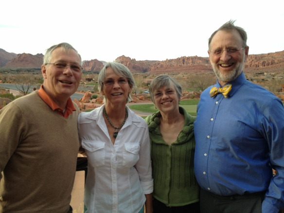 Tom, Marsha.Joan,and Peter ST. George UT March 2013