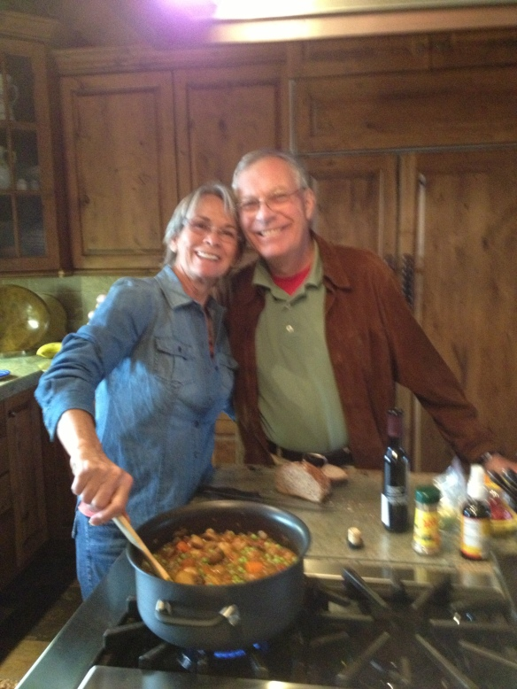 Marsha and Tom with mushroom stew